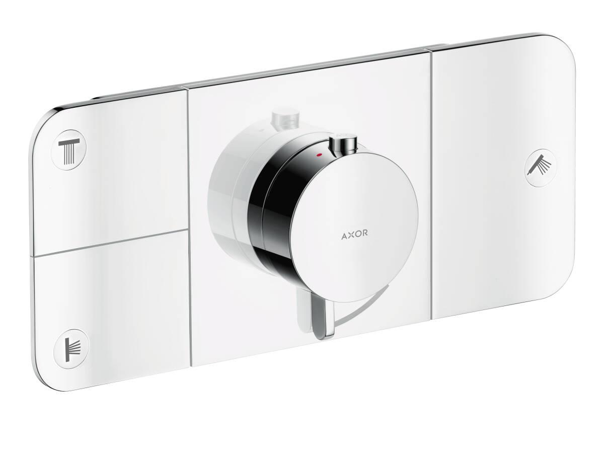 One Thermostatmodul für 3 Verbraucher Unterputz, Chrom, 45713000