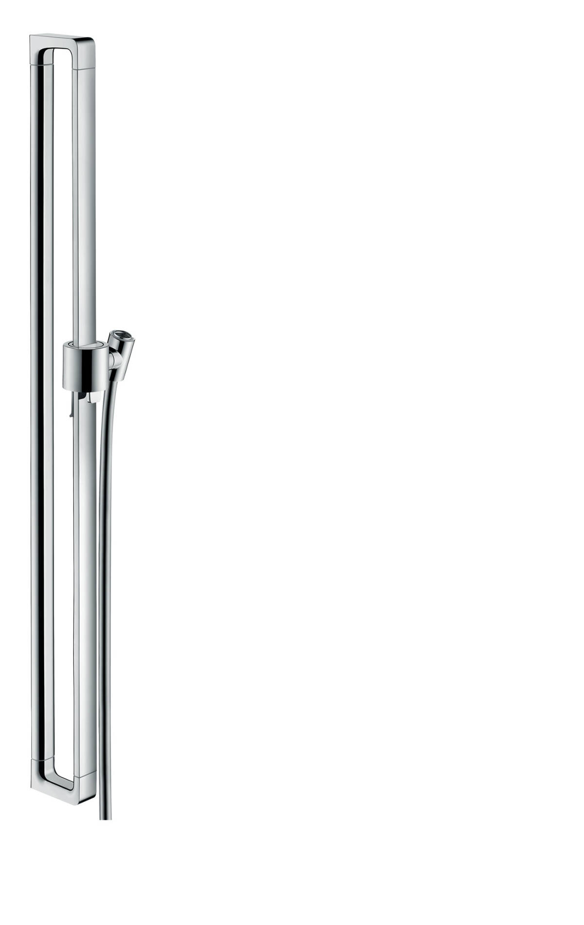 Shower bar 0.90 m, Brushed Black Chrome, 36736340
