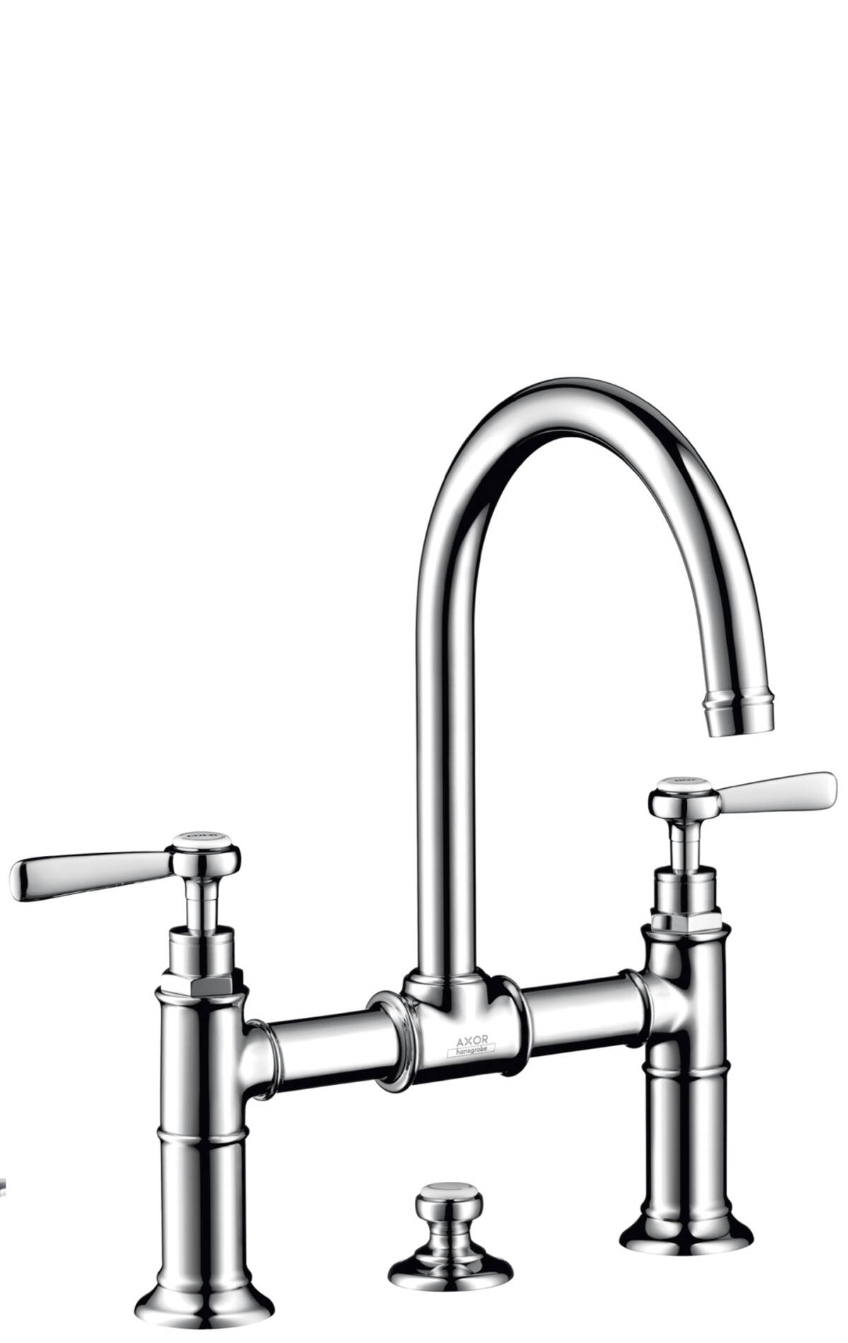 2-handle basin mixer 220 with lever handles and pop-up waste set, Chrome, 16511000