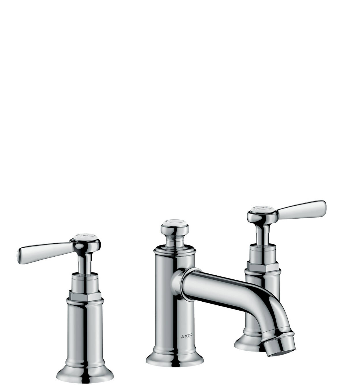 3-hole basin mixer 30 with lever handles and pop-up waste set, Chrome, 16535000