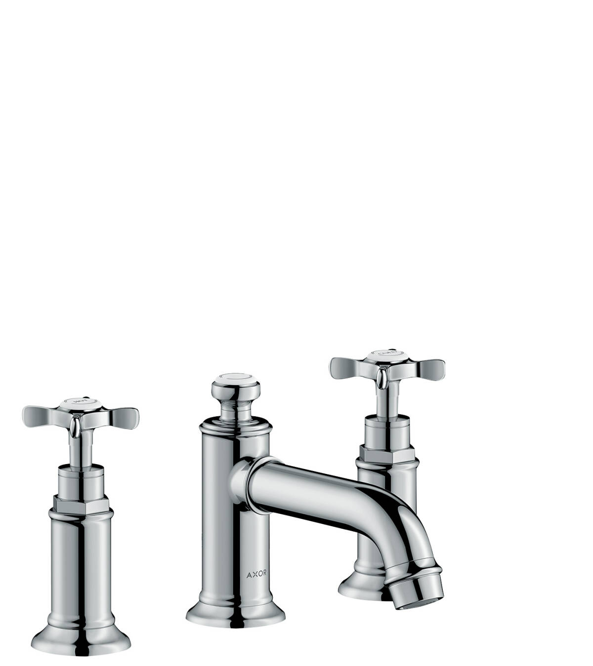 3-hole basin mixer 30 with cross handles and pop-up waste set, Chrome, 16536000