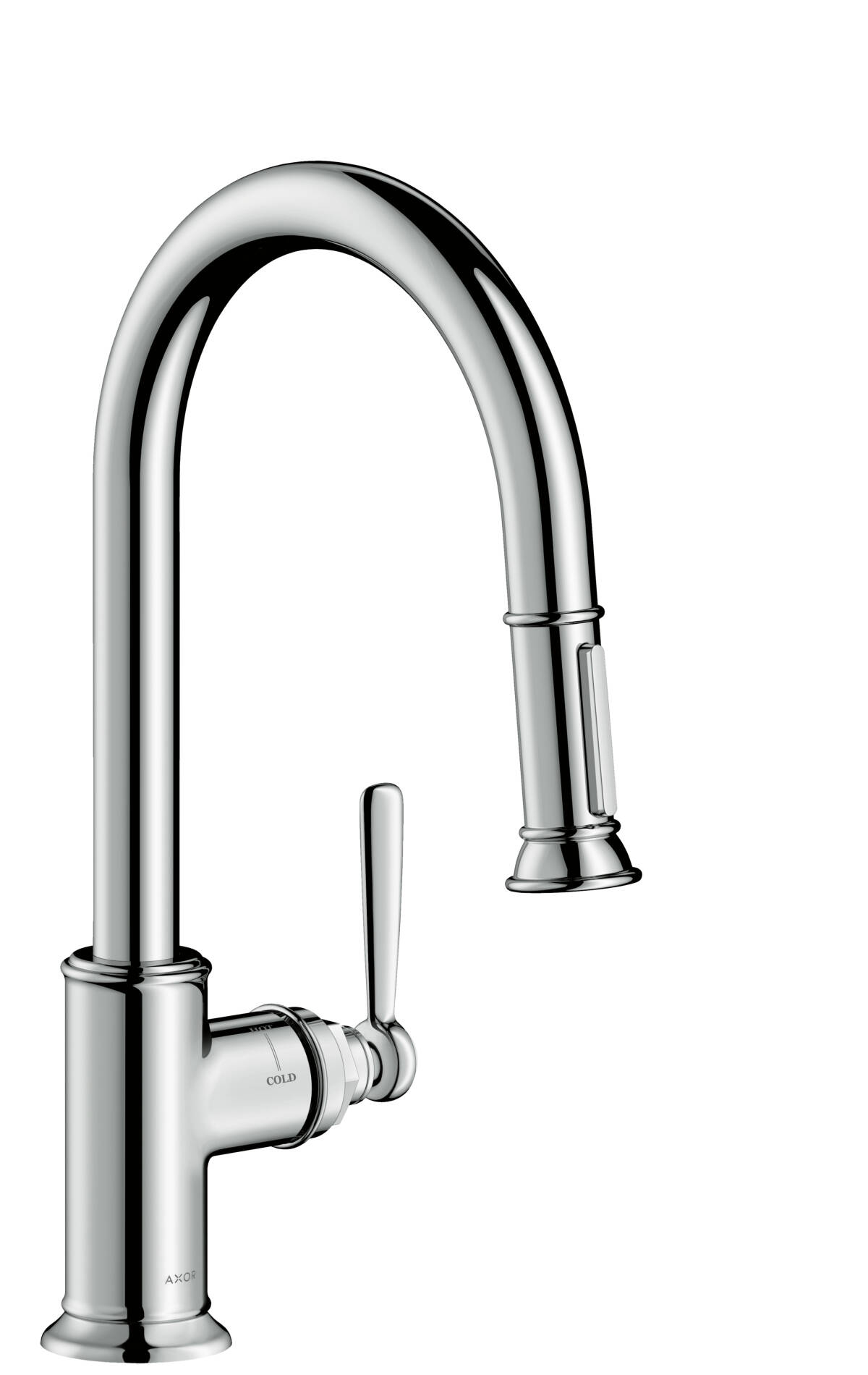 Single lever kitchen mixer with pull-out spray, Chrome, 16581000