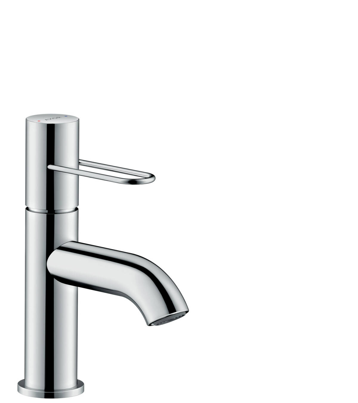 Single lever basin mixer 70 with loop handle and waste set, Chrome, 38021000