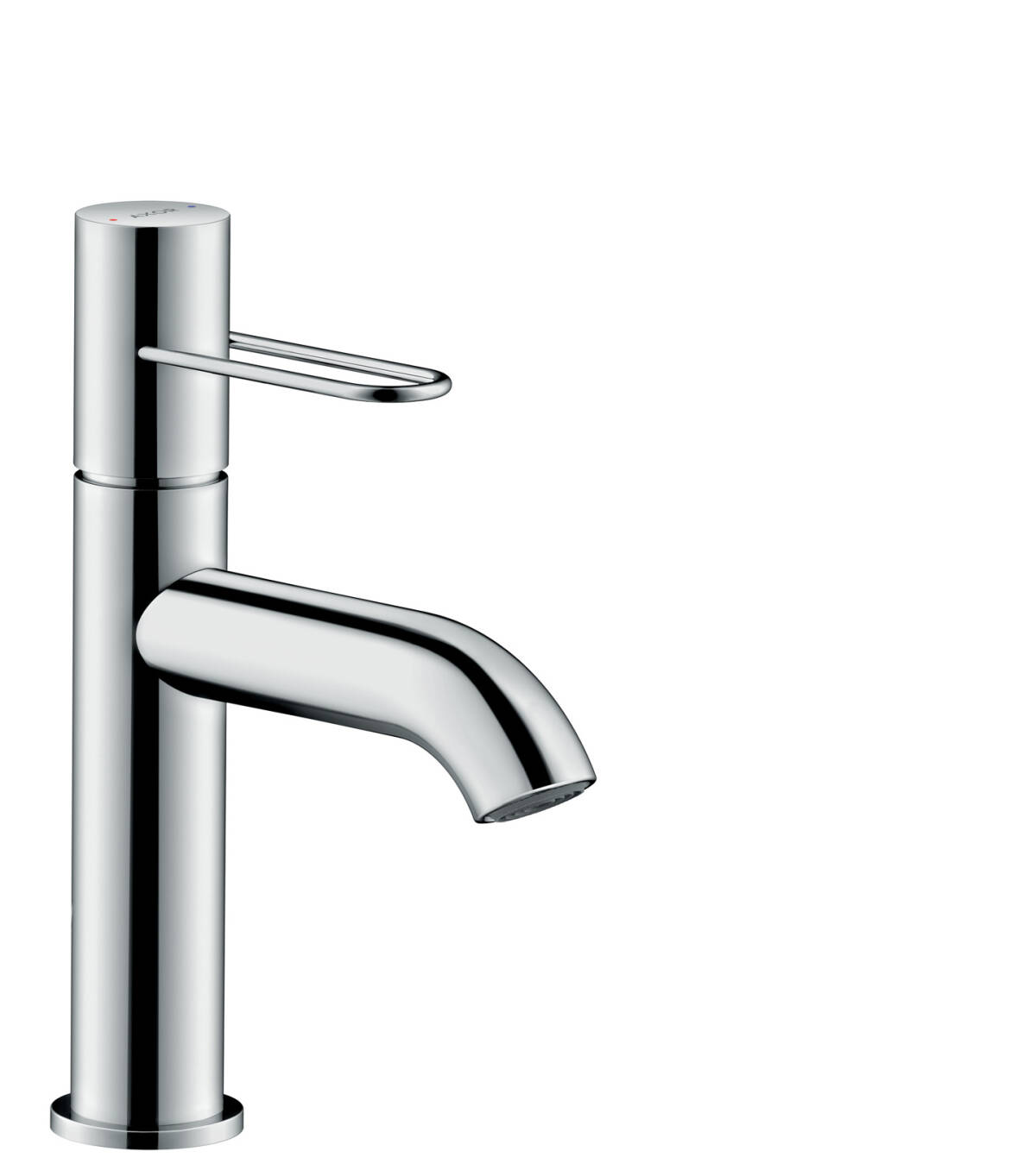 Single lever basin mixer 100 with loop handle and waste set, Chrome, 38026000