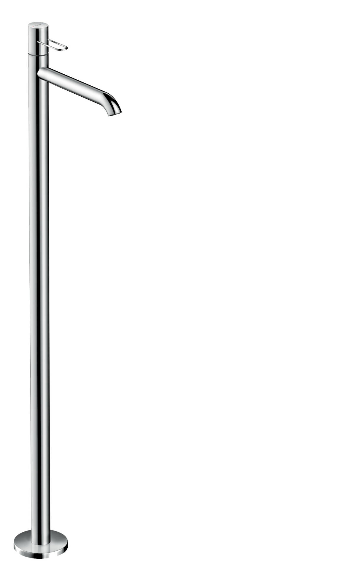 Single lever basin mixer floor-standing with loop handle without waste set, Chrome, 38037000