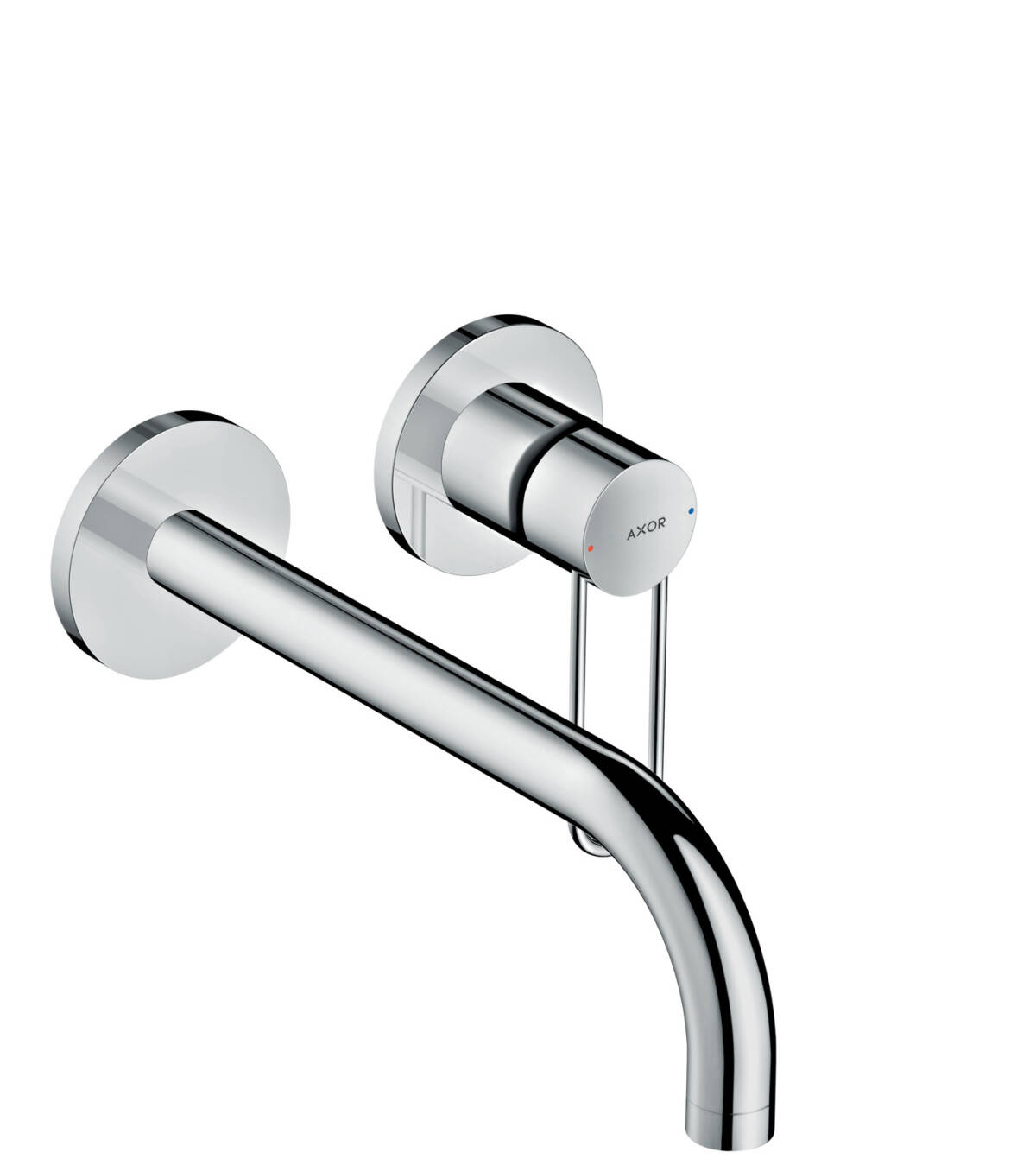 Single lever basin mixer for concealed installation loop handle wall-mounted 225, Chrome, 38122000