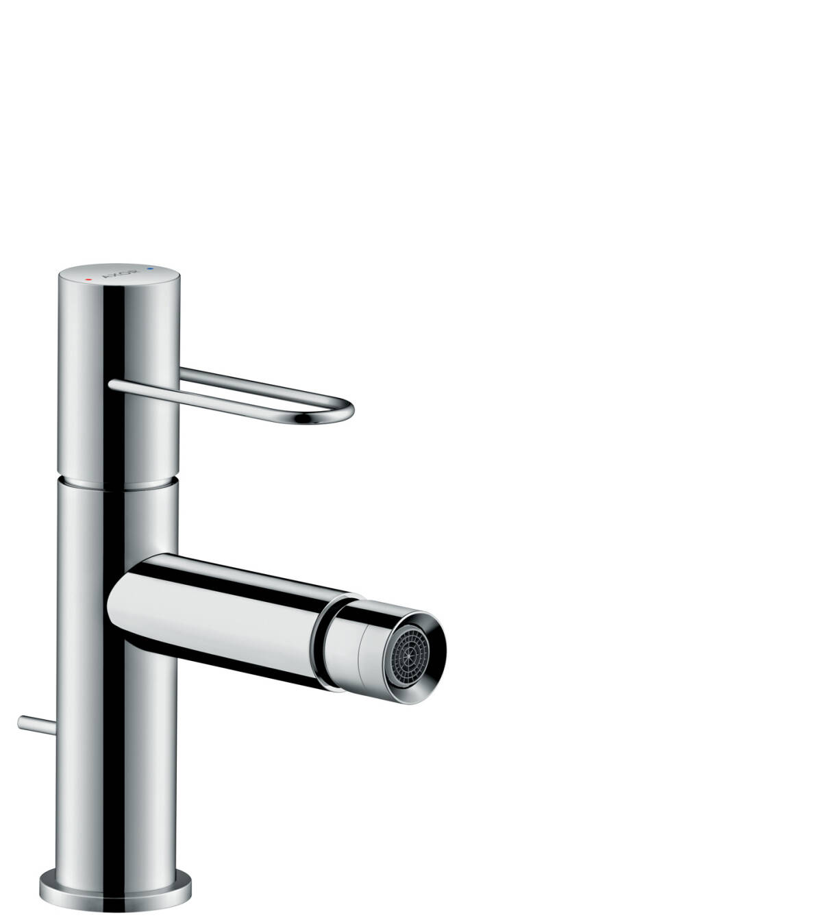 Single lever bidet mixer with loop handle and pop-up waste set, Chrome, 38211000