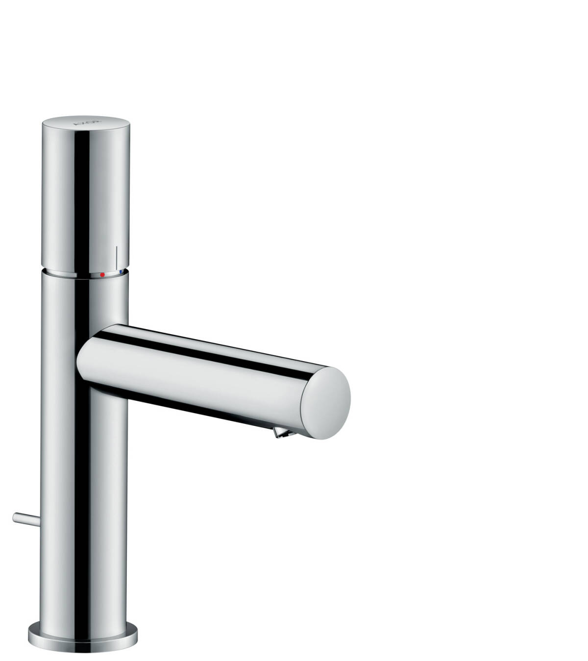 Single lever basin mixer 110 with zero handle with pop-up waste set, Chrome, 45001000