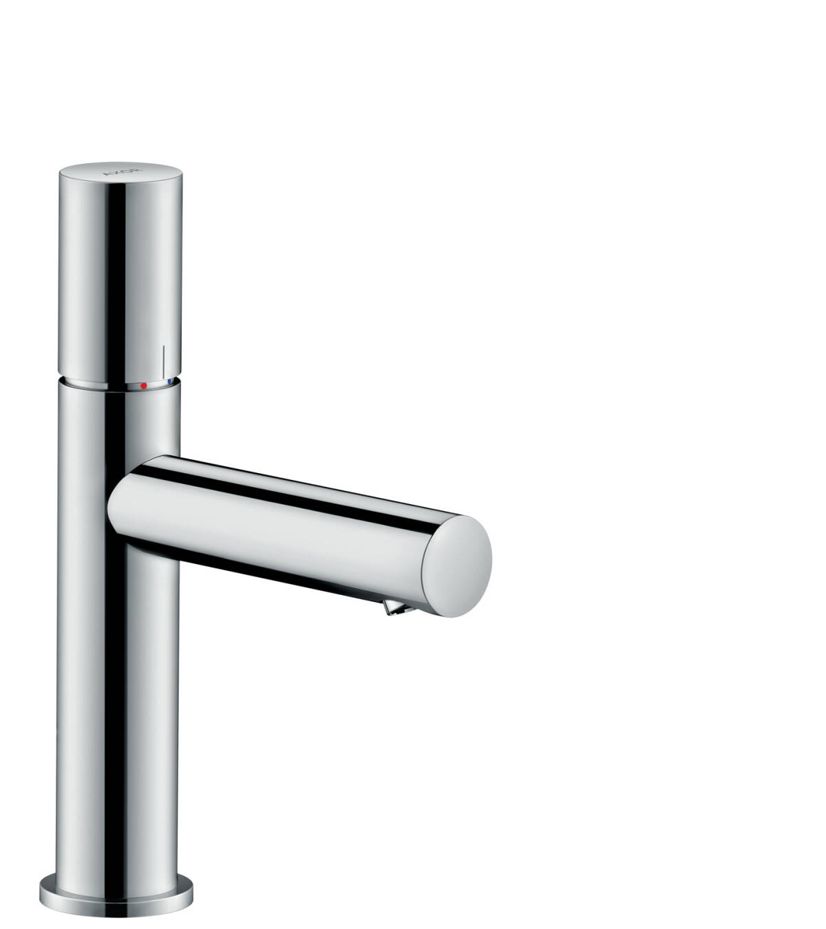 Single lever basin mixer 110 with zero handle and waste set, Chrome, 45002000