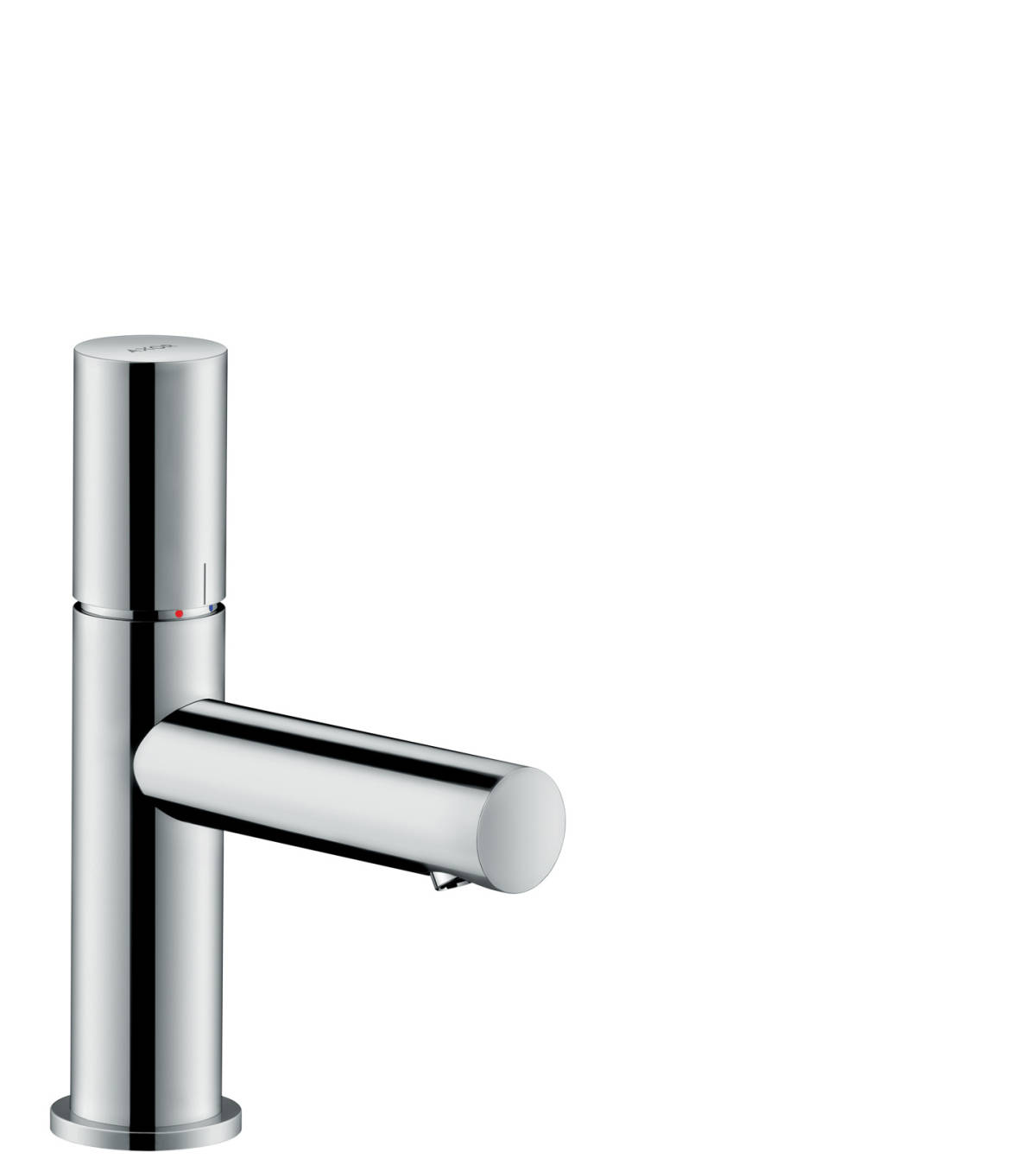 Single lever basin mixer 80 with zero handle and waste set, Chrome, 45005000