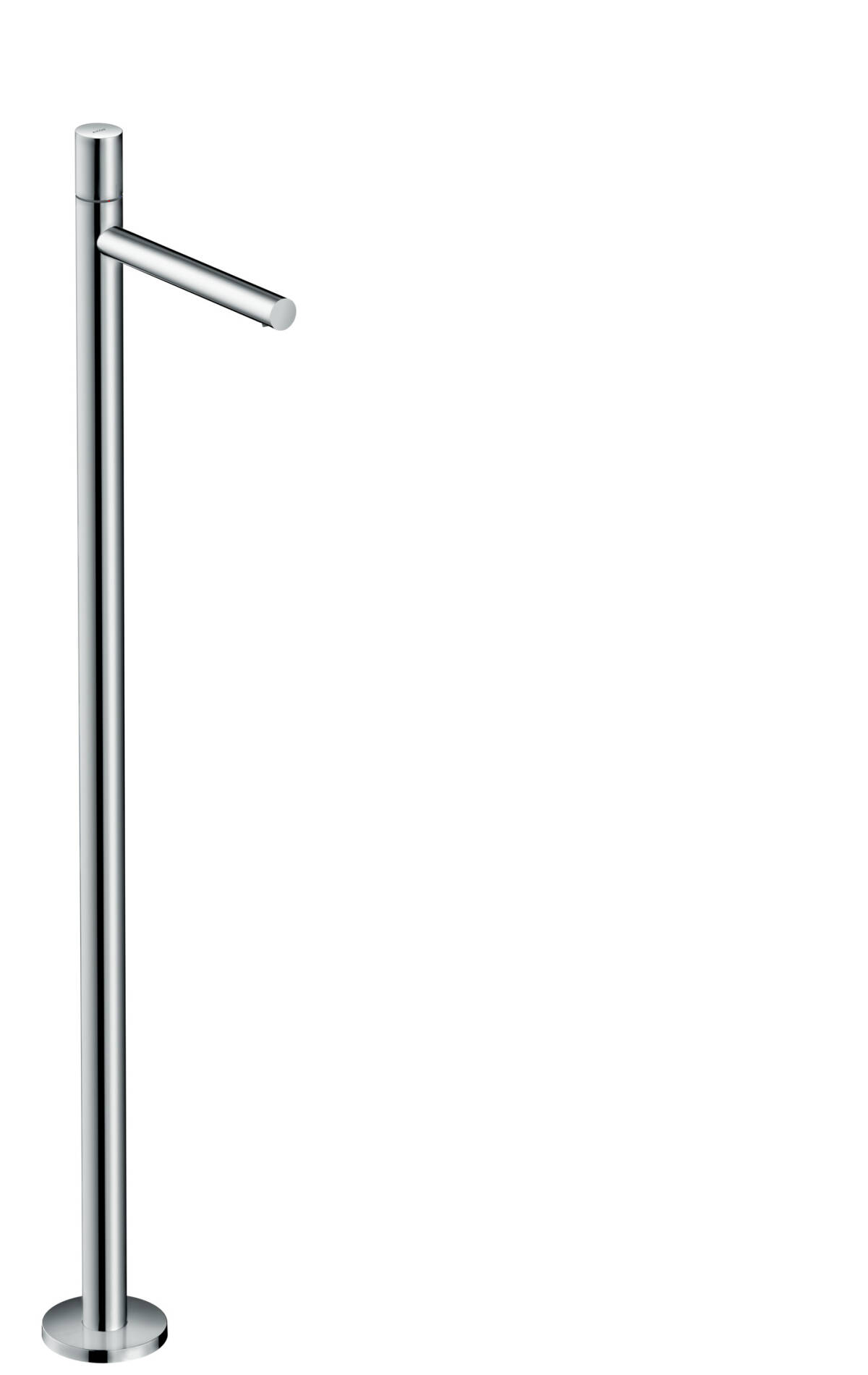 Single lever basin mixer floor-standing with zero handle without waste set, Chrome, 45037000