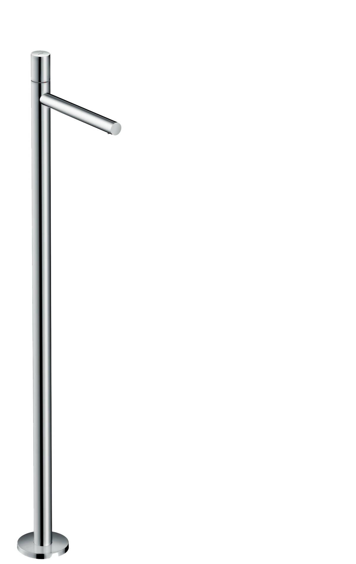 Single lever basin mixer floor-standing zero handle without waste set, Brushed Gold Optic, 45037250