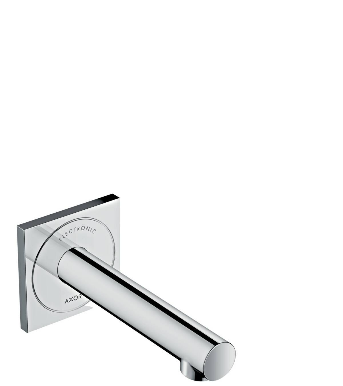 Elektronik-Waschtischmischer Unterputz für Wandmontage mit Auslauf 161 mm, Chrom, 45110000