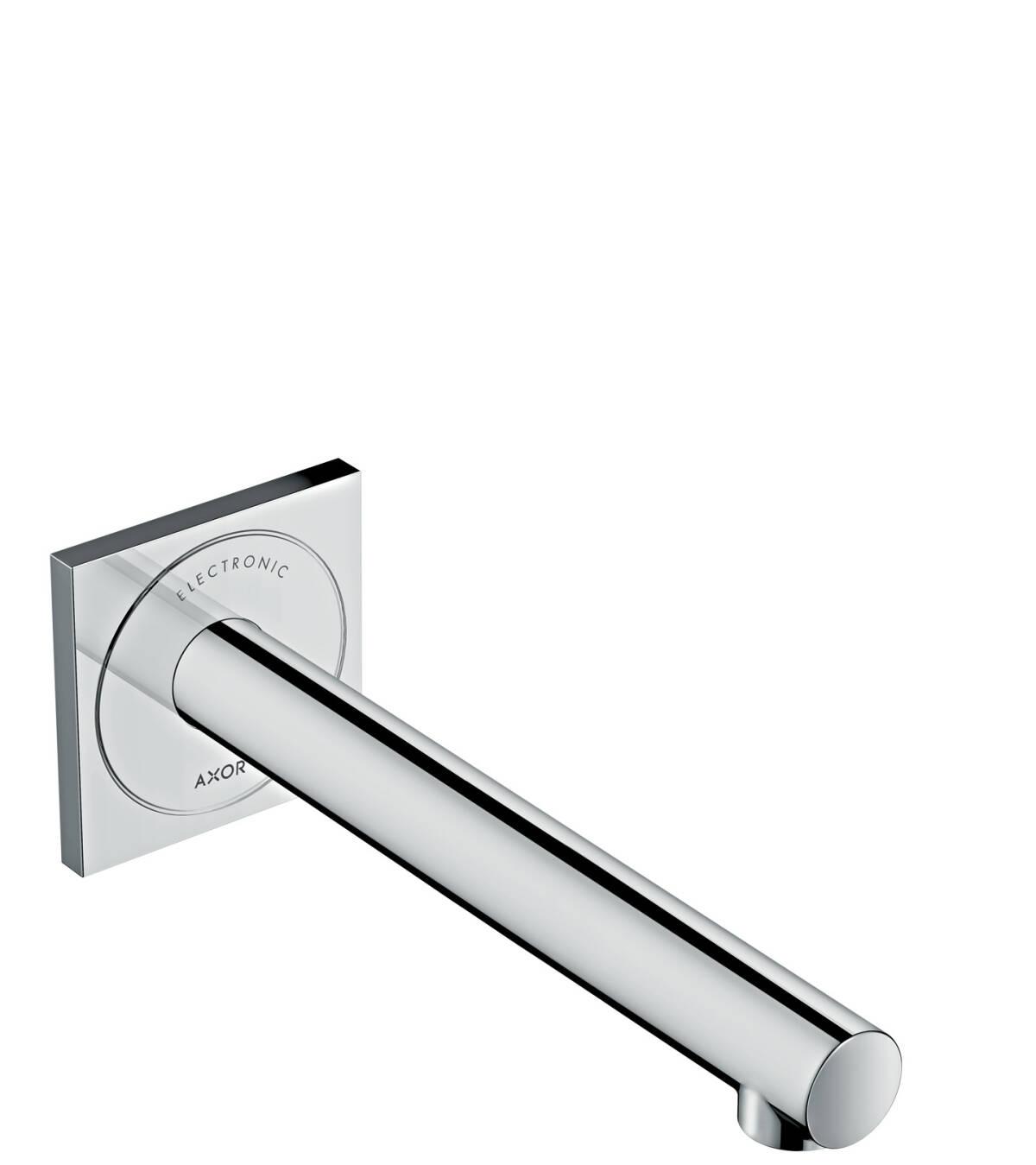 Elektronik-Waschtischmischer Unterputz für Wandmontage mit Auslauf 221 mm, Chrom, 45111000