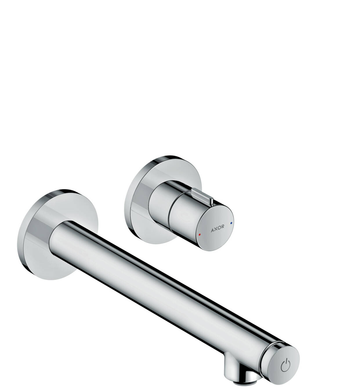 Basin mixer for concealed installation wall-mounted Select with spout 221 mm, Brushed Bronze, 45113140