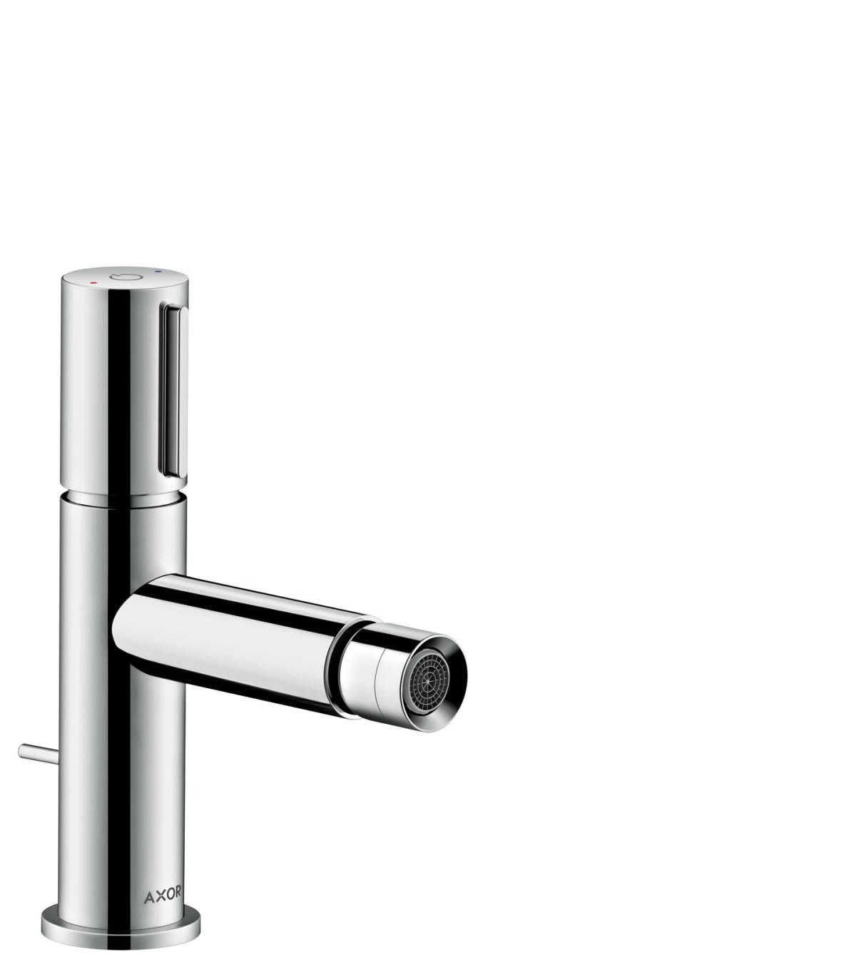 Bidetmischer Select mit Zugstangen-Ablaufgarnitur, Chrom, 45210000