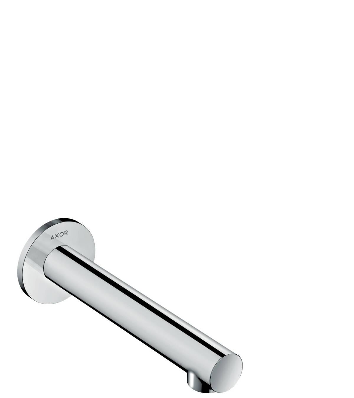 Caño de bañera recto, color acero, 45410800