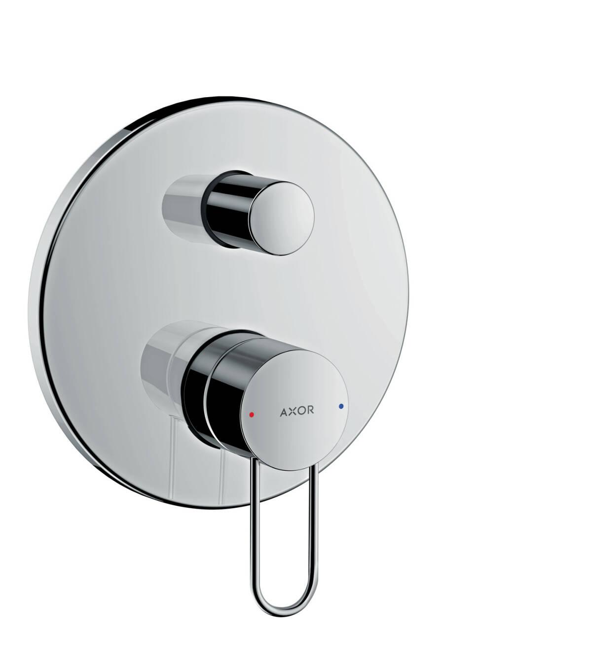 axor uno bath mixers 2 outlets chrome 38428000. Black Bedroom Furniture Sets. Home Design Ideas