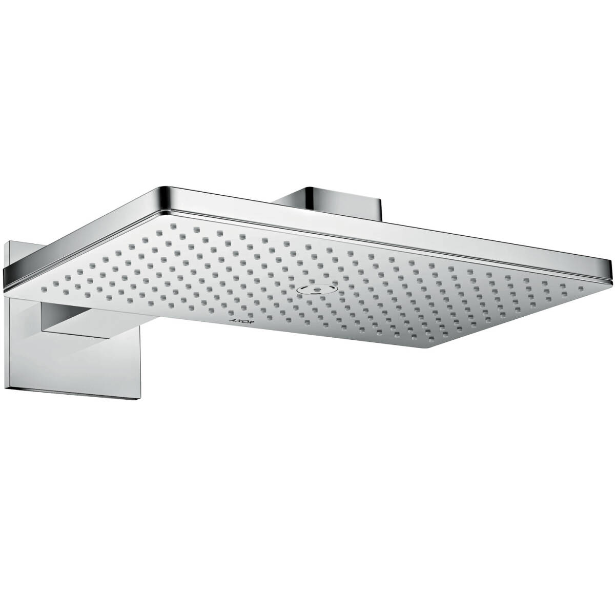 Overhead shower 460/300 1jet with shower arm and square escutcheon, Chrome, 35278000