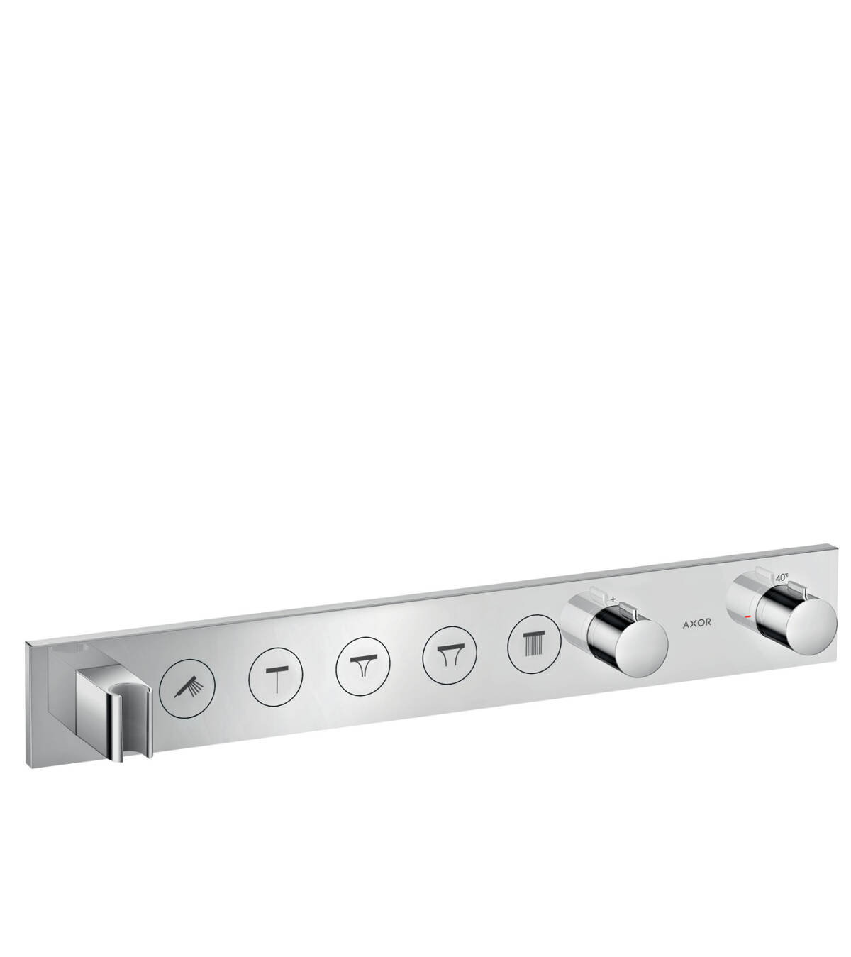 Thermostatic module Select 670/90 for concealed installation for 5 functions, Chrome, 18358000