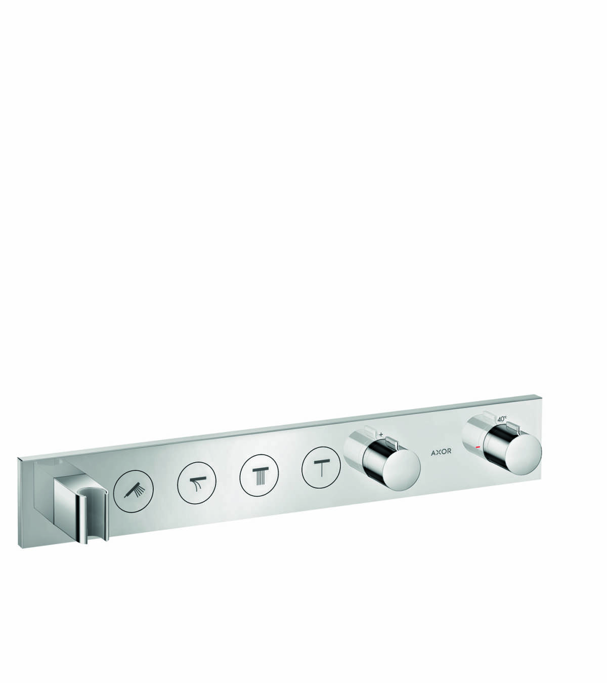 Thermostatic module Select 600/90 for concealed installation for 4 functions, Chrome, 18357000