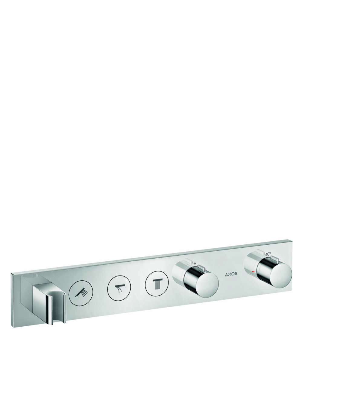 Thermostatic module Select 530/90 for concealed installation for 3 functions, Chrome, 18356000