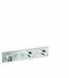 Módulo de termostato Select 460/90 mm empotrado para 2 funciones