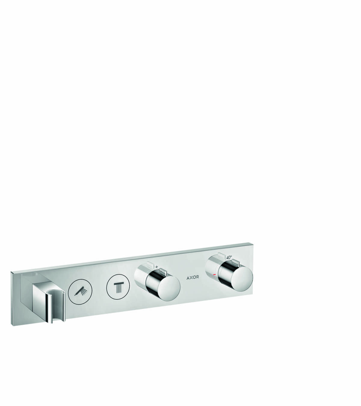 Thermostatic module Select 460/90 for concealed installation for 2 functions, Chrome, 18355000