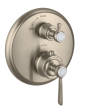 Thermostat for concealed installation with lever handle and shut-off valve
