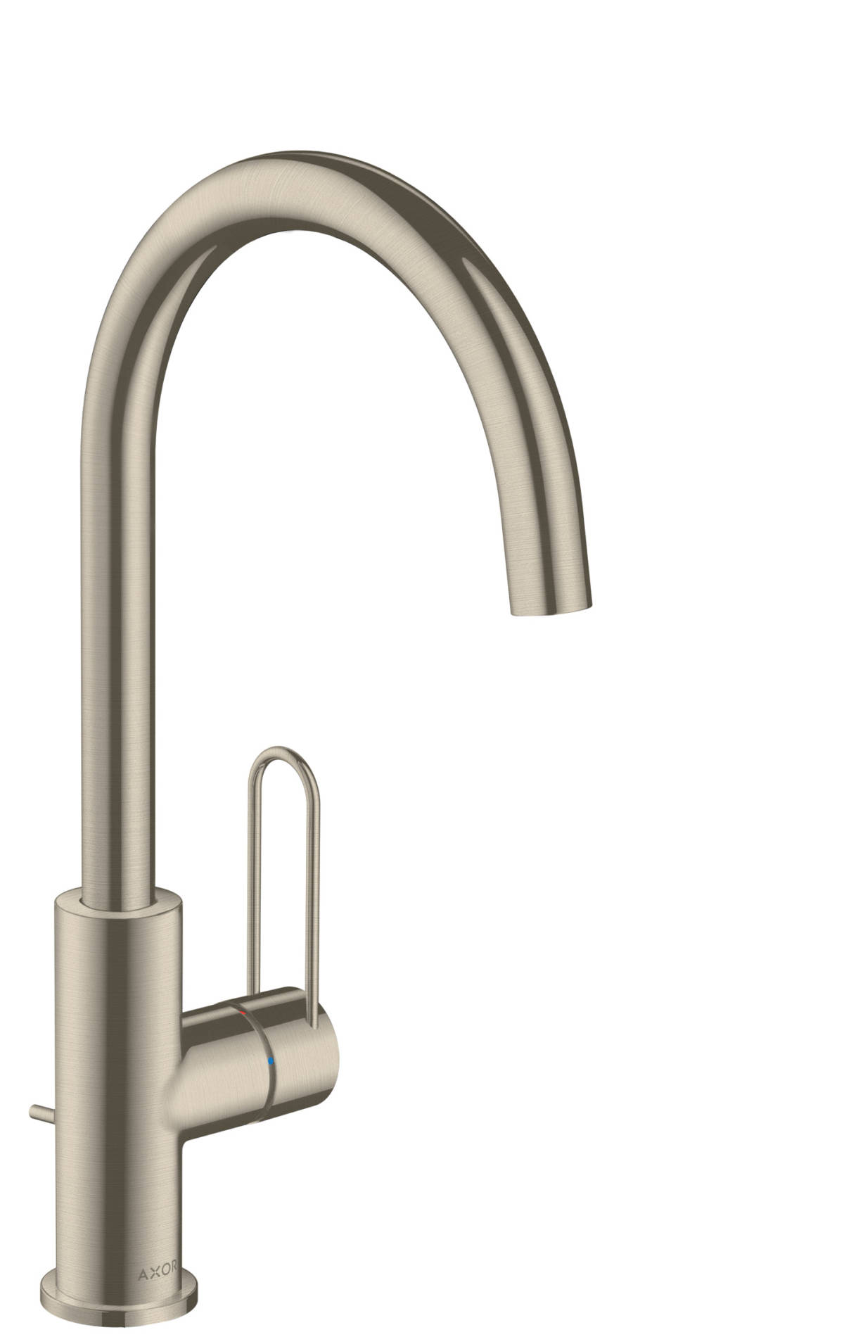Single lever basin mixer 240 with loop handle and pop-up waste set, Brushed Nickel, 38036820