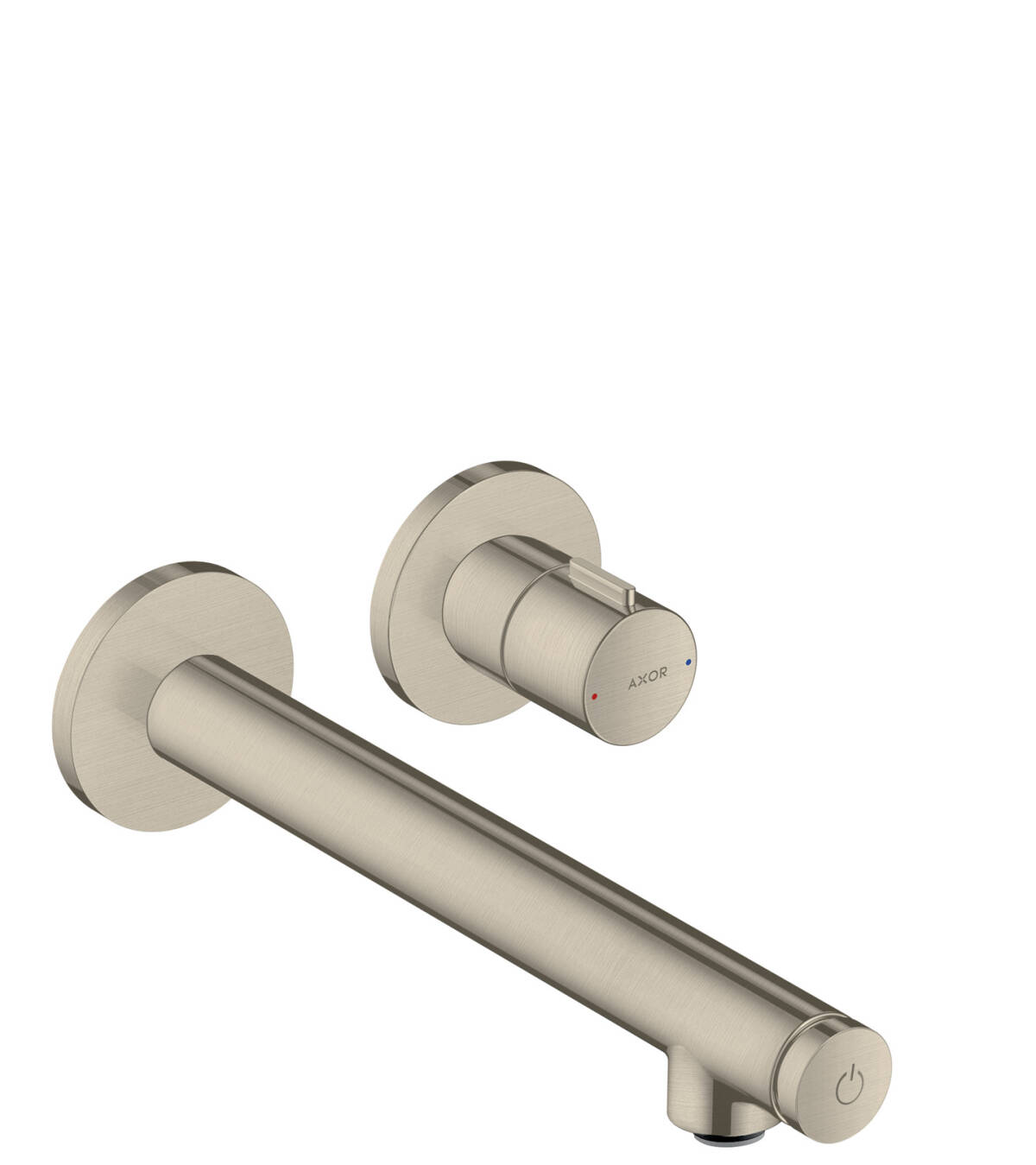 Basin mixer for concealed installation wall-mounted Select with spout 221 mm, Brushed Nickel, 45113820