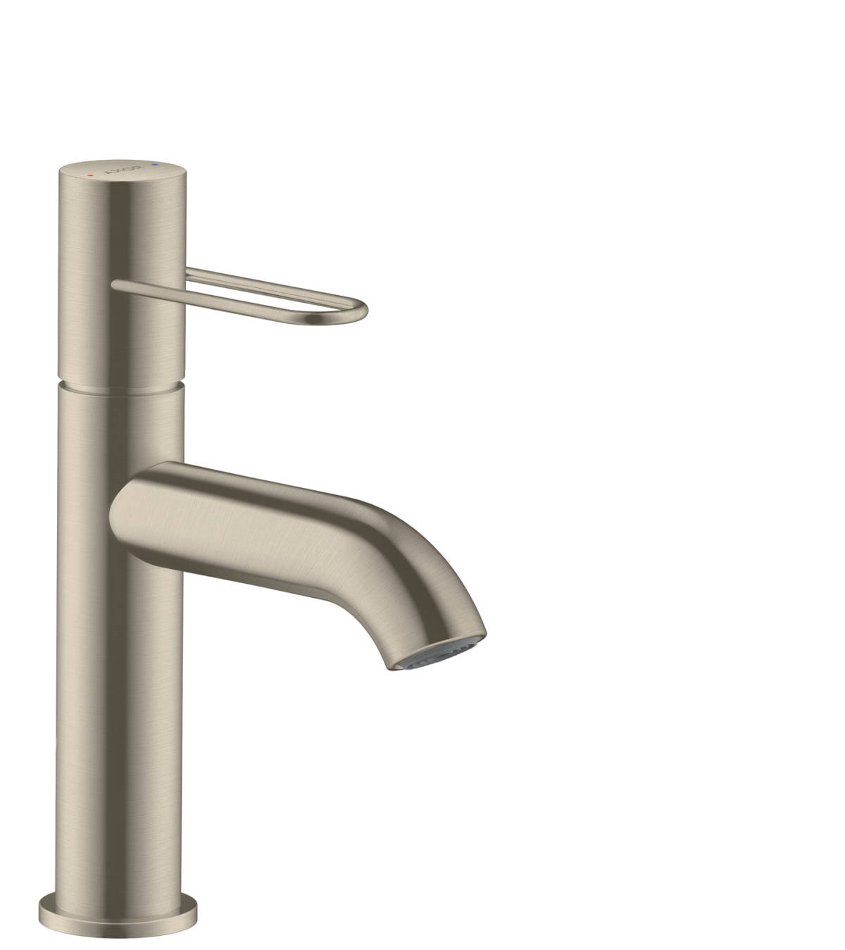 Single lever basin mixer 100 with loop handle and waste set, Brushed Nickel, 38026820