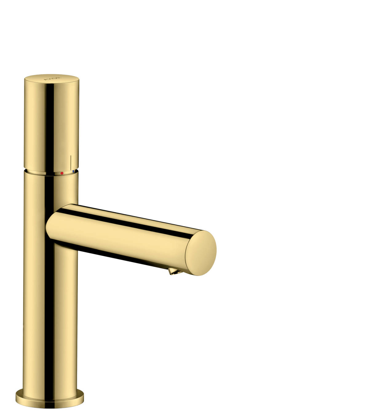 Single lever basin mixer 110 with zero handle and waste set, Polished Brass, 45002930
