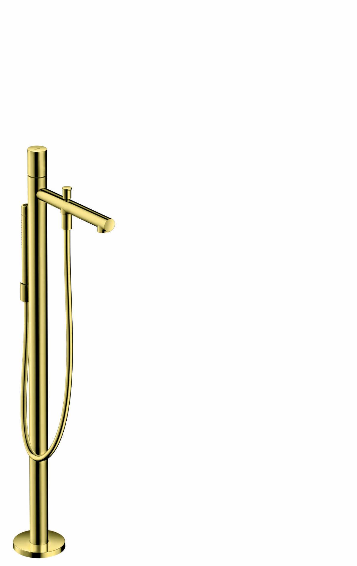 Mezclador monomando de bañera de pie con manecilla zero, latón pulido, 45416930