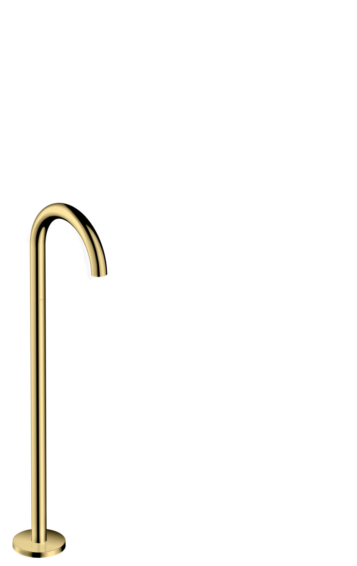 Bath spout curved floor-standing, Polished Brass, 38412930