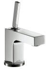 Single lever basin mixer 80 with pin handle for hand washbasins with pop-up waste set