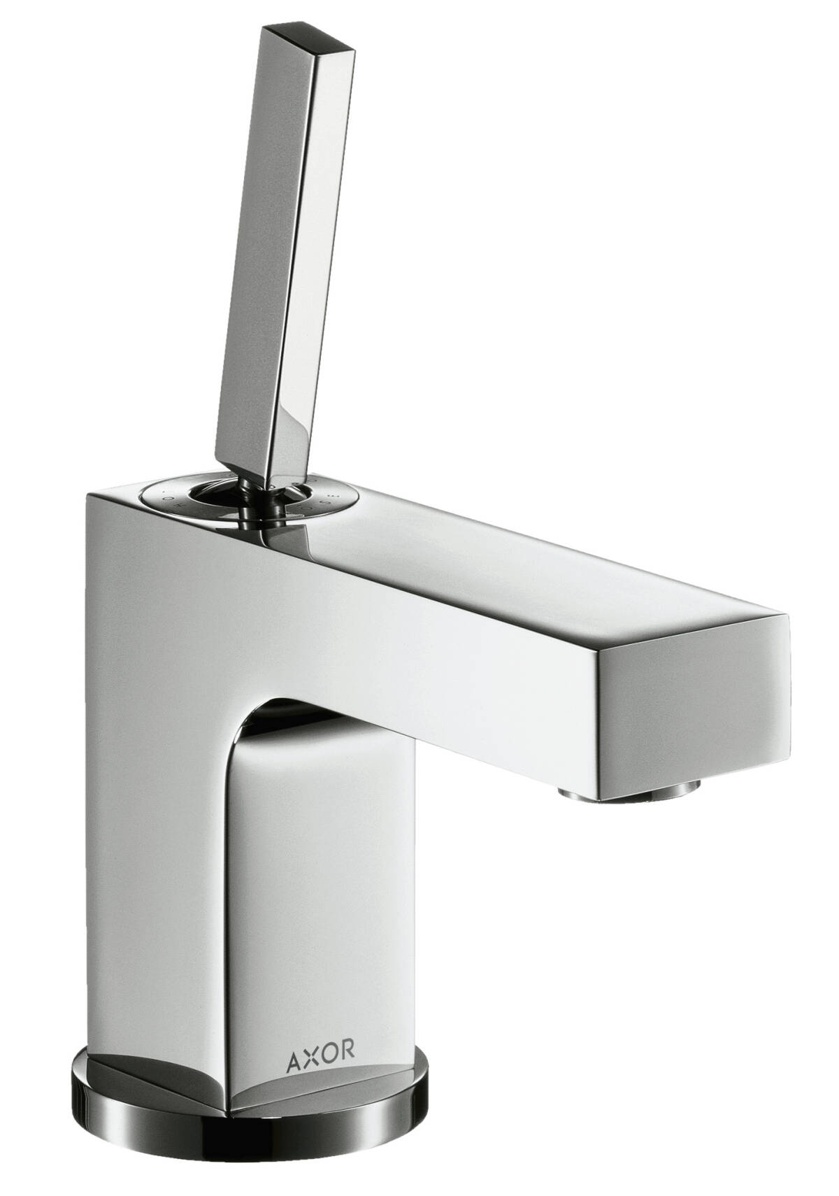 Single lever basin mixer 80 with pin handle for hand washbasins with pop-up waste set, Chrome, 39015000
