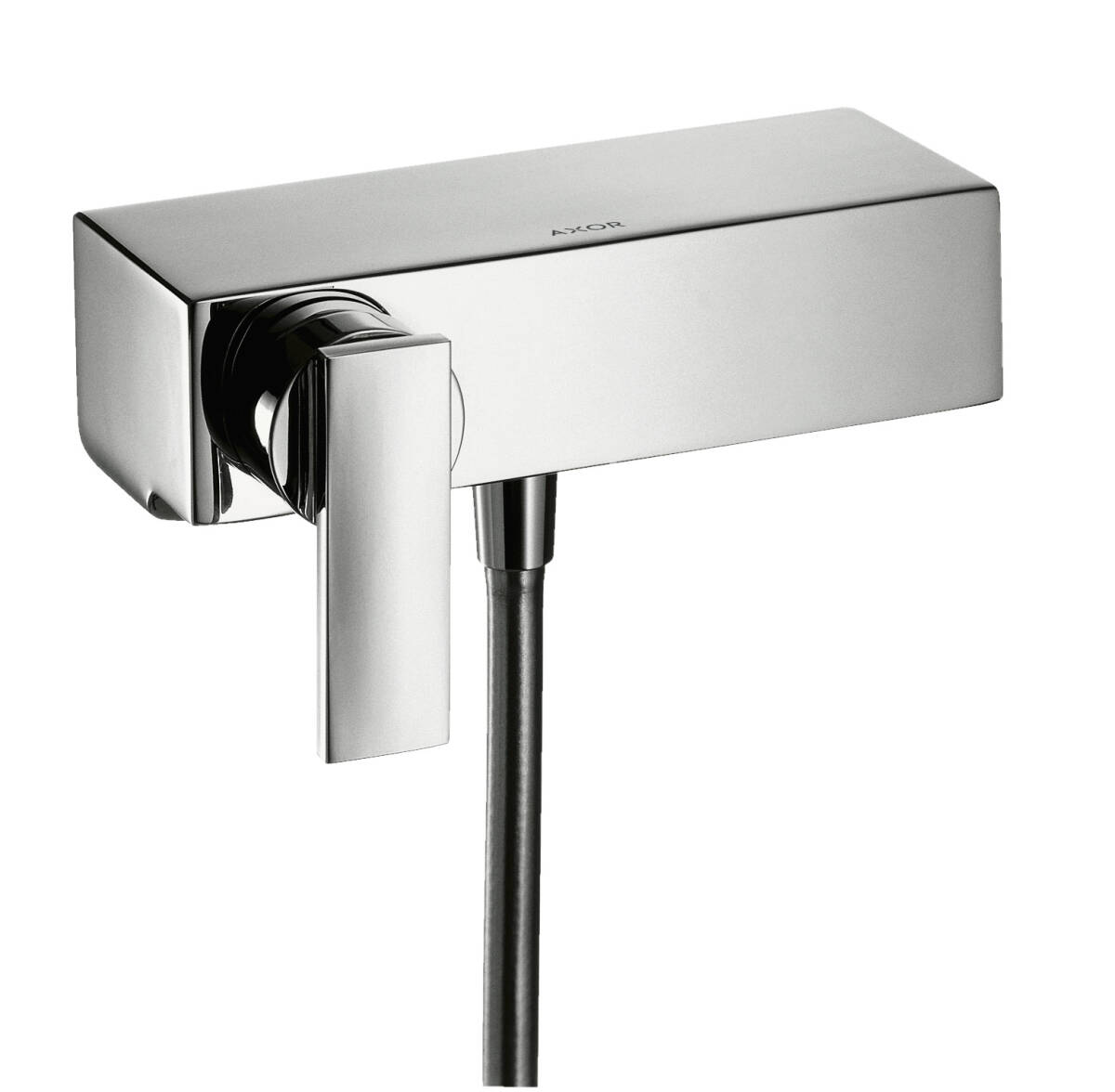Single lever shower mixer for exposed installation with lever handle, Chrome, 39600000