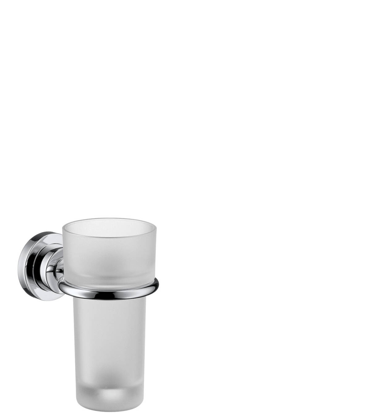 Toothbrush tumbler, Chrome, 41734000