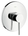 Single lever shower mixer for concealed installation with pin handle