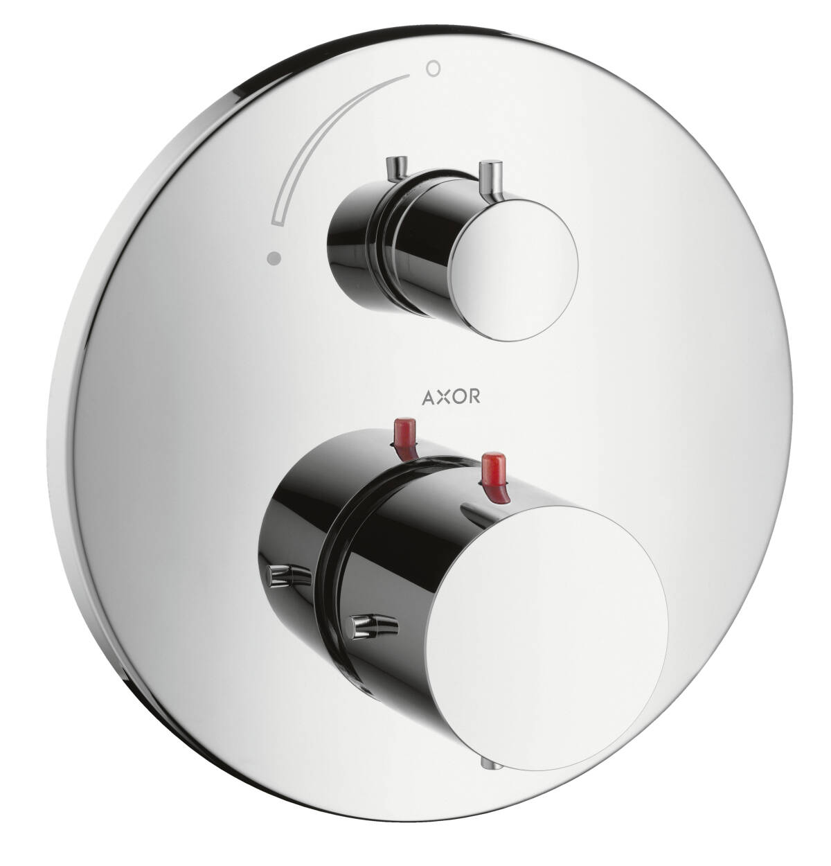 Thermostat for concealed installation with shut-off valve, Chrome, 10700000
