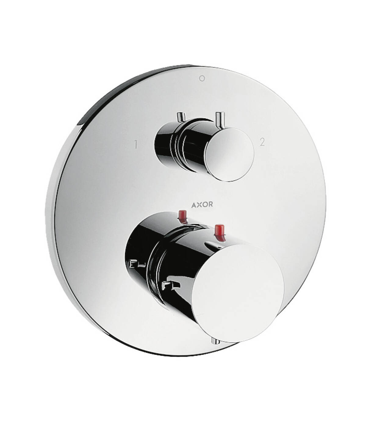 Thermostatic mixer for concealed installation with shut-off/ diverter valve, Chrome, 10720000