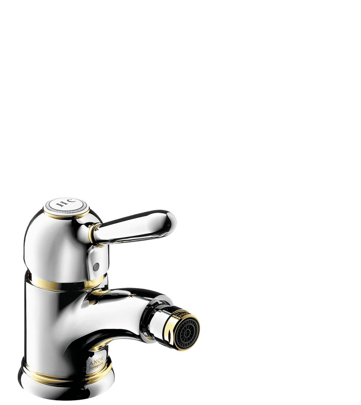Einhebel-Bidetmischer mit Zugstangen-Ablaufgarnitur, Chrom, 17210000