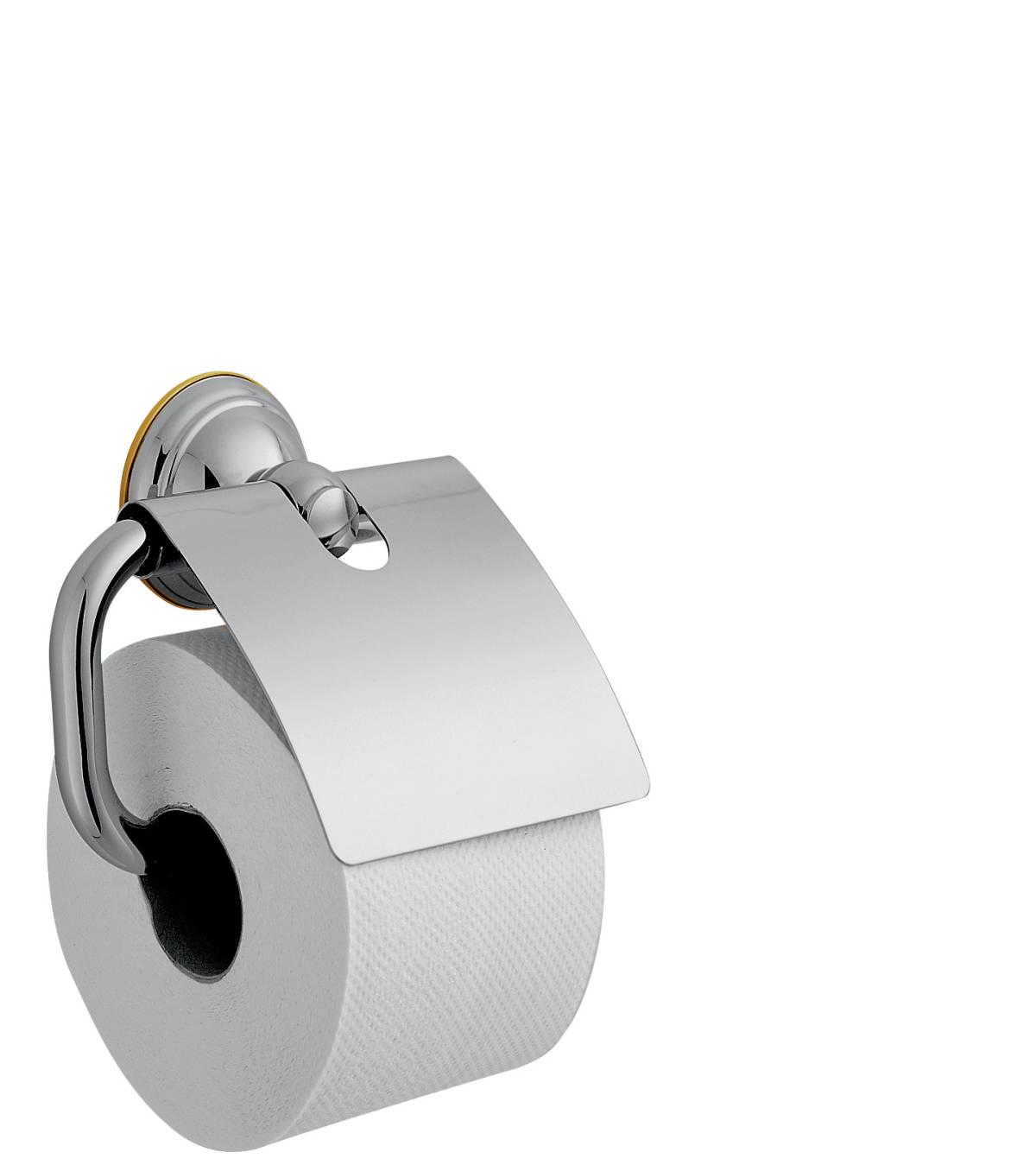 Roll holder, Chrome/Gold Optic, 41438090
