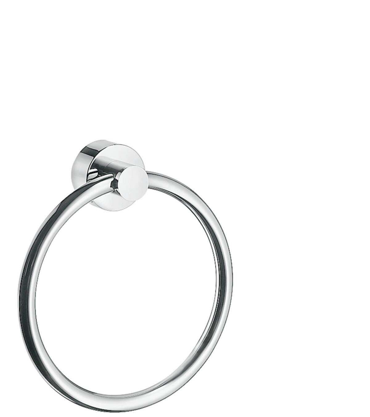 Towel ring, Brushed Chrome, 41521260