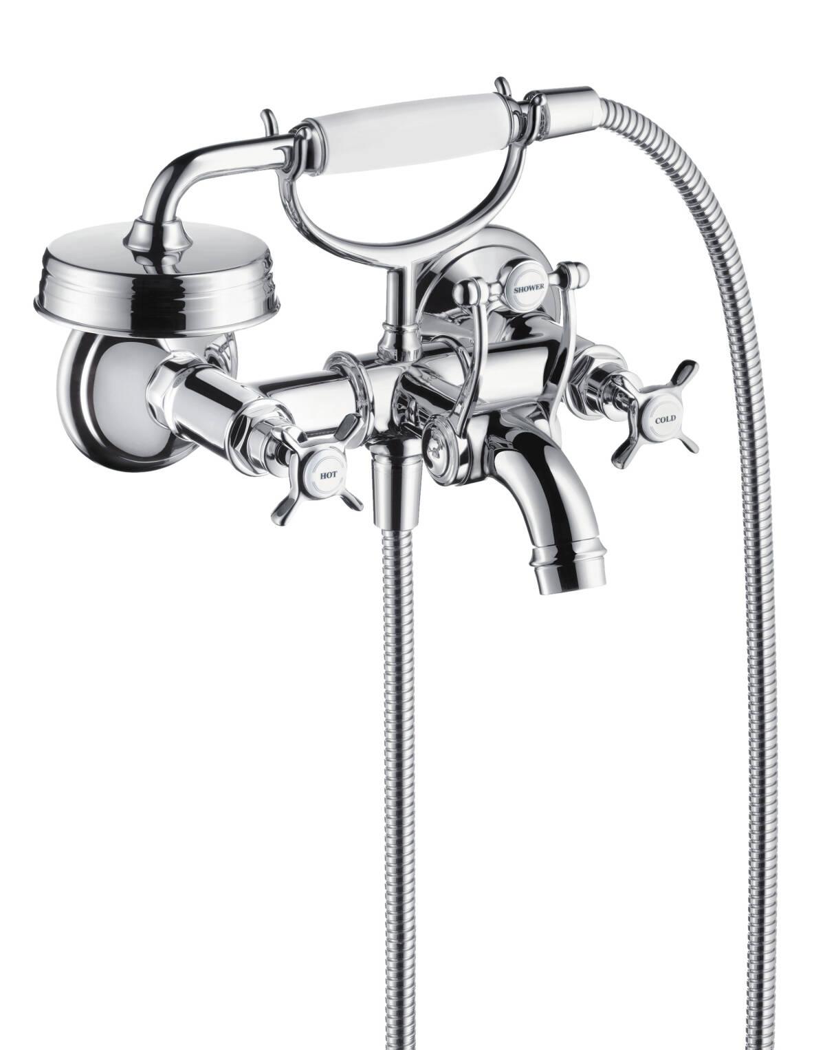 Mezclador bimando de bañera de 2 agujeros, cromo, 16540000