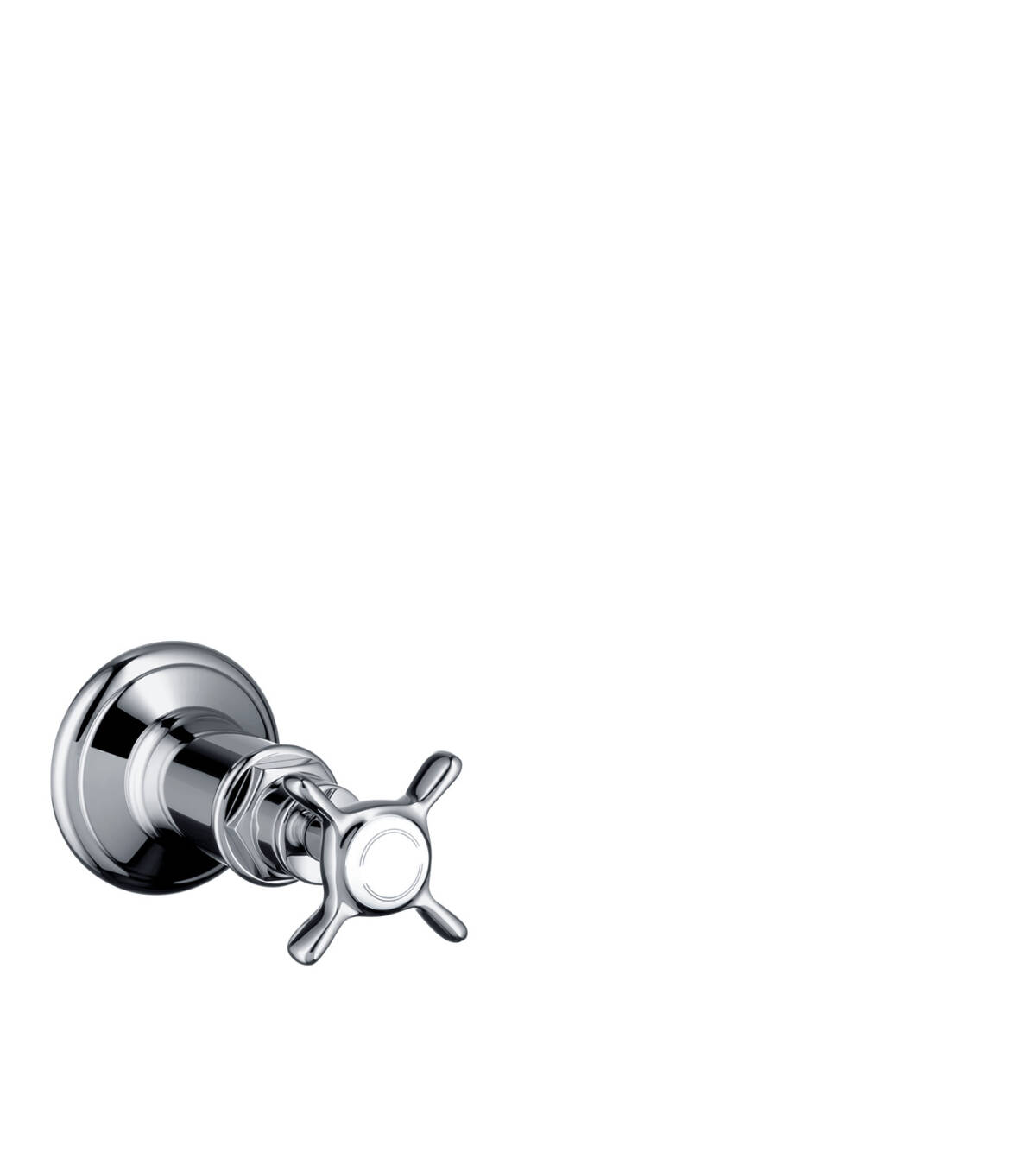 Shut-off valve for concealed installation with cross handle, Chrome, 16871000