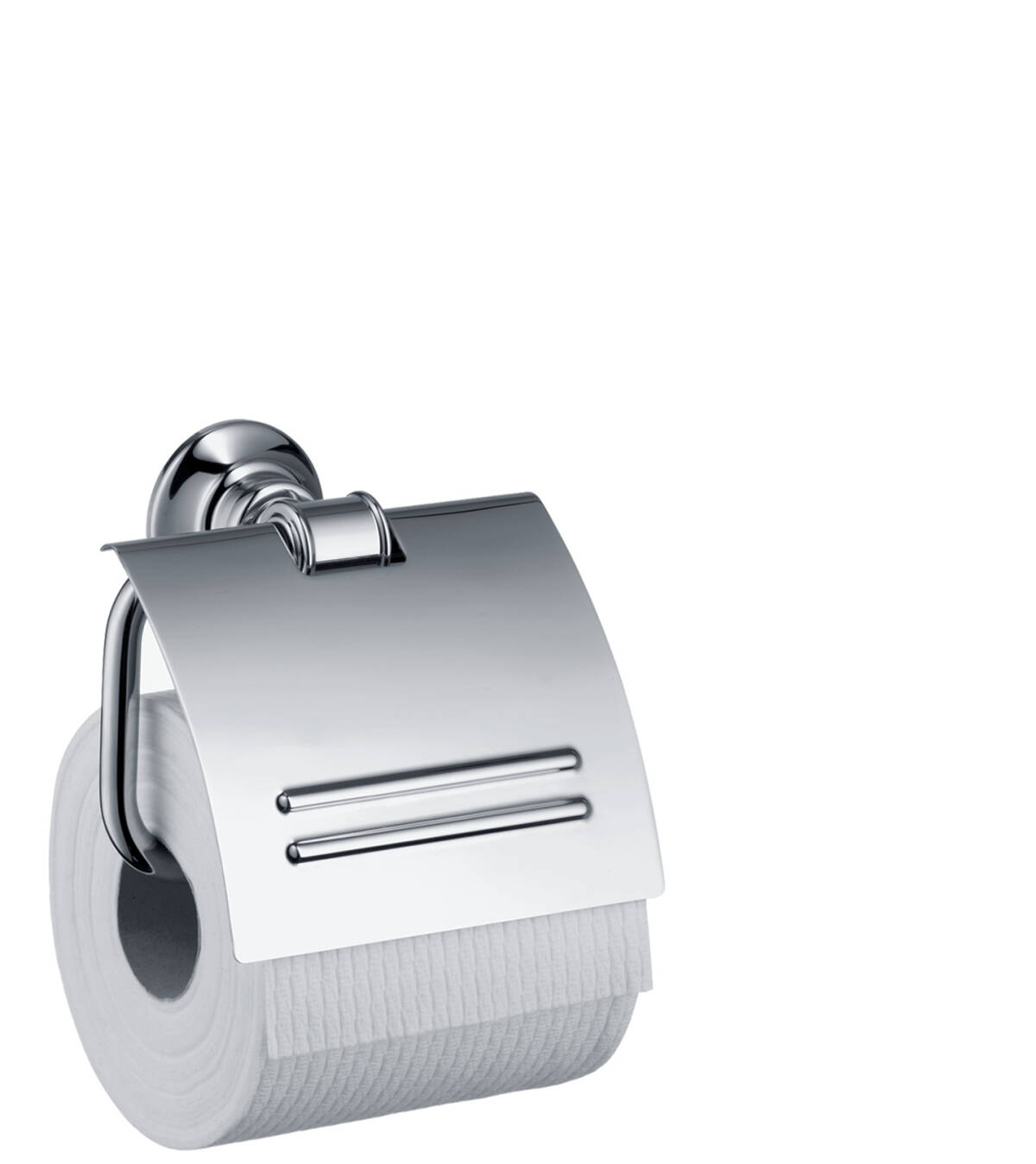 Roll holder with cover, Chrome, 42036000