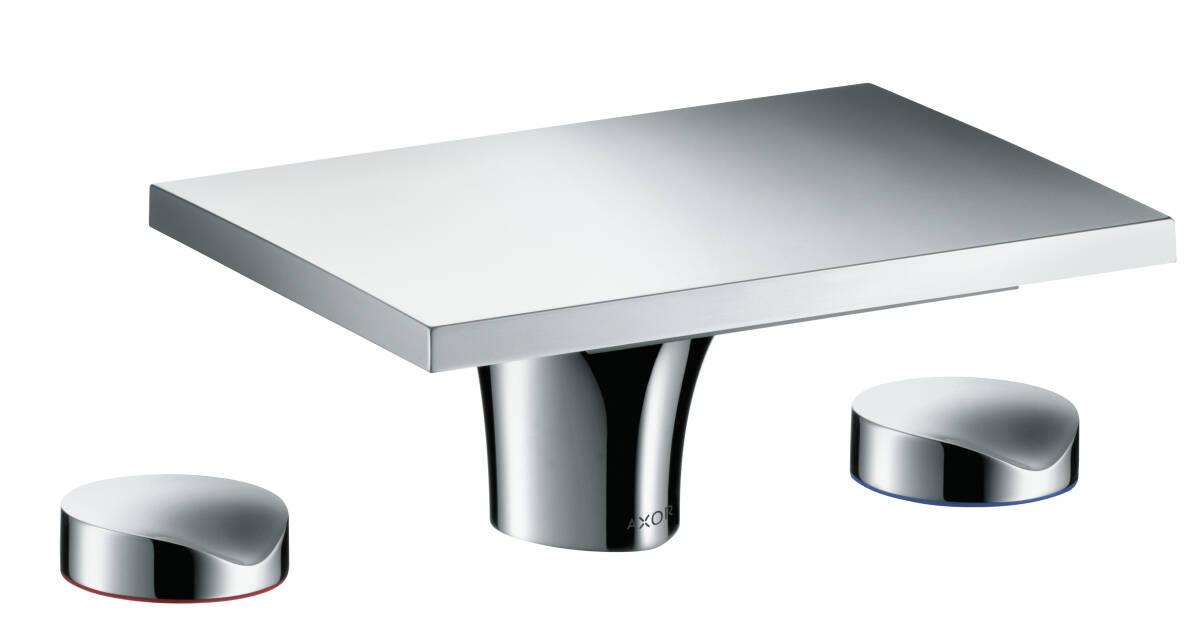 3-hole basin mixer 80 with pop-up waste set, Brushed Bronze, 18013140