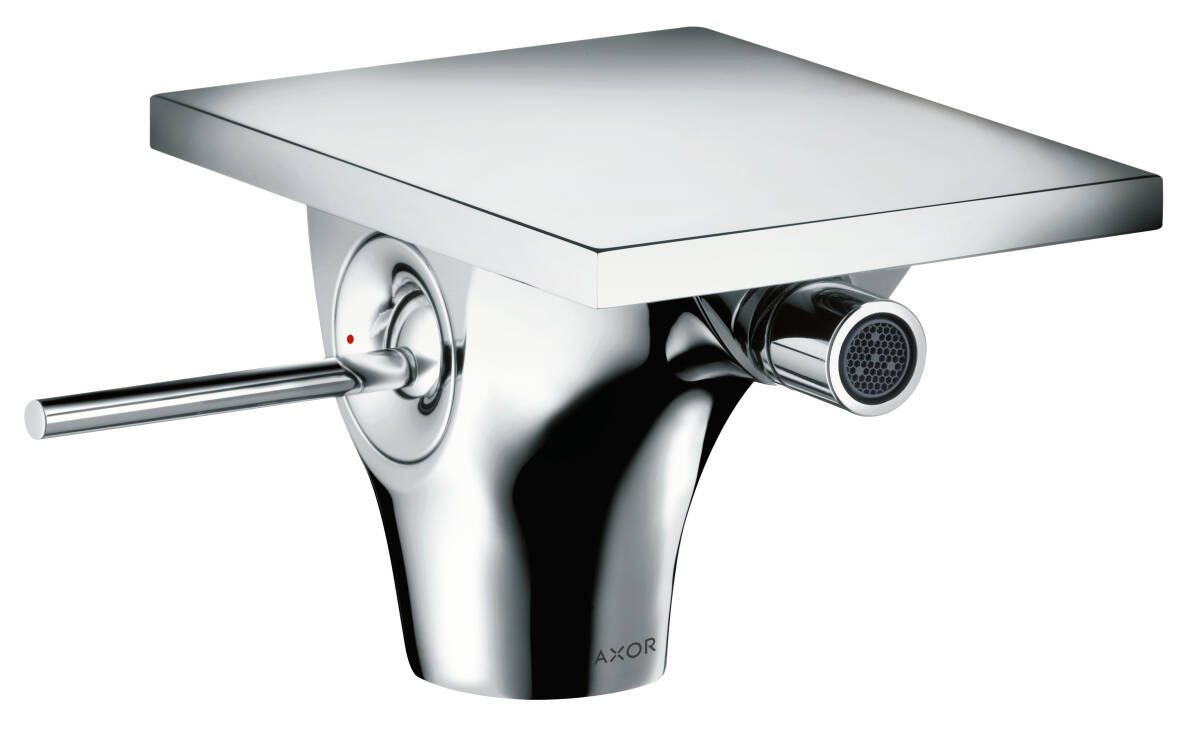 Single lever bidet mixer with pop-up waste set, Chrome, 18210000